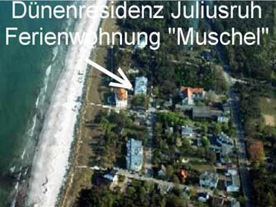 Insel Rügen, Strandurlaub in der Dünenresidenz Juliusruh direkt (25m) am Meer